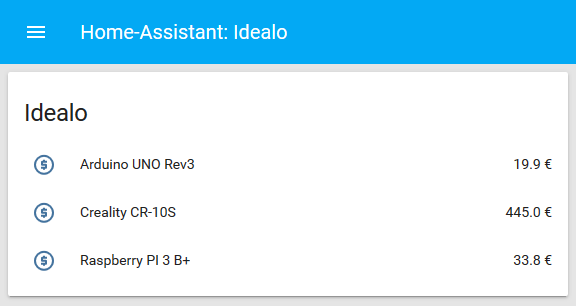 Idealo - Home-Assistant