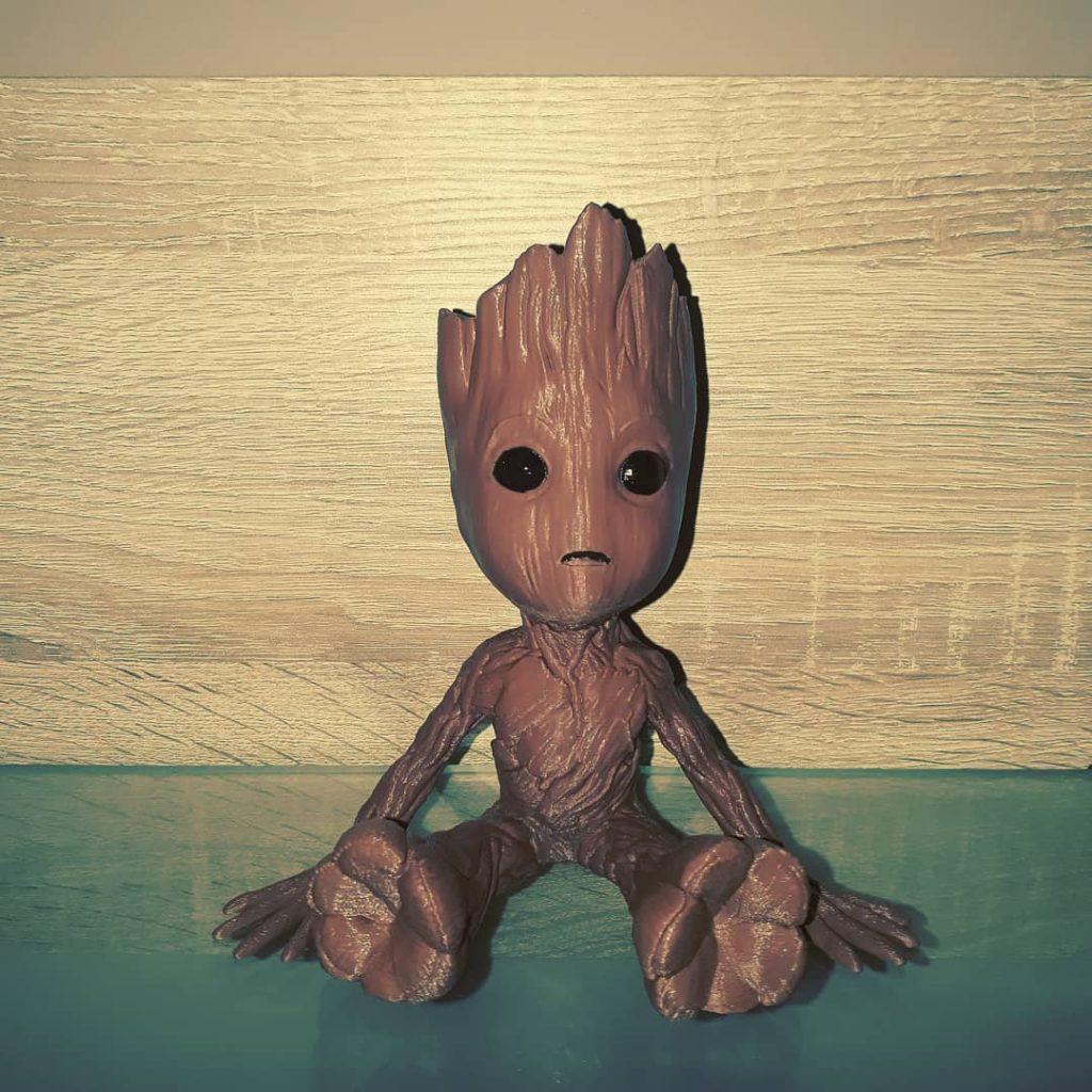 Baby Groot gedruckt mit OWL-Filament