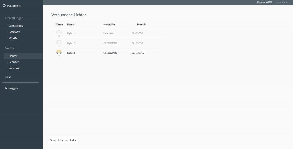 Gledopto GL-B-001Z per ConBee II in der Phoscon App einbinden