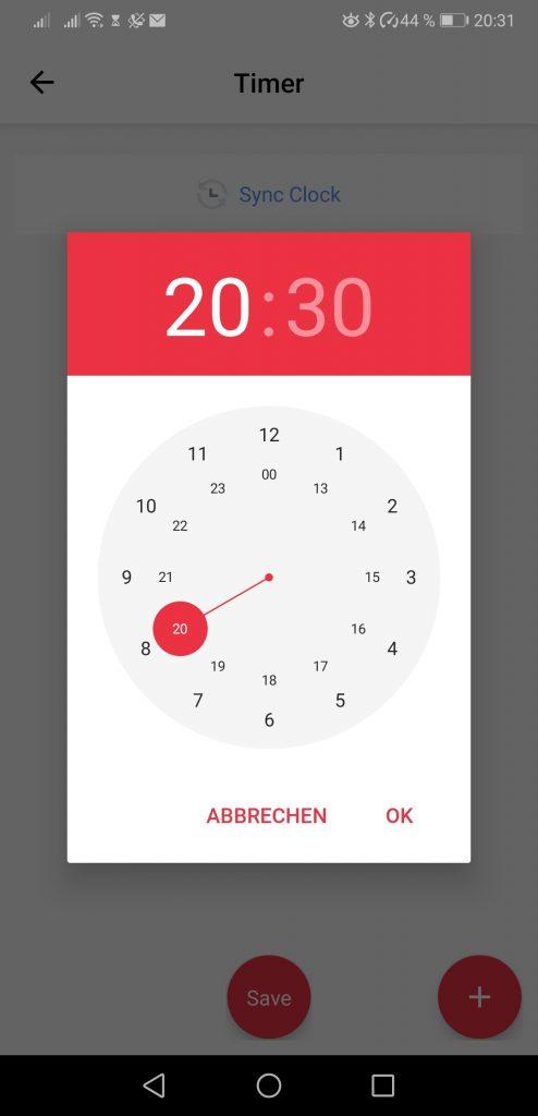 SwitchBot Timer Zeit einstellen